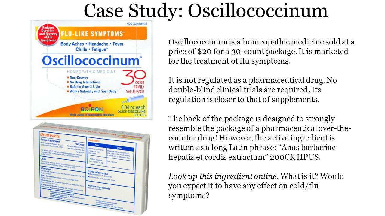 Case Study: Oscillococcinum The ingredient in question is duck liver and heart that has been diluted in a 1 to 10 400 ratio in water, i.e, 10000000000000000000000000000000000000 00000000000000000000000000000000000000 00000000000000000000000000000000000000 00000000000000000000000000000000000000 00000000000000000000000000000000000000 00000000000000000000000000000000000000 00000000000000000000000000000000000000 00000000000000000000000000000000000000 00000000000000000000000000000000000000 00000000000000000000000000000000000000 00000000000000000000 parts water to 1 part duck.