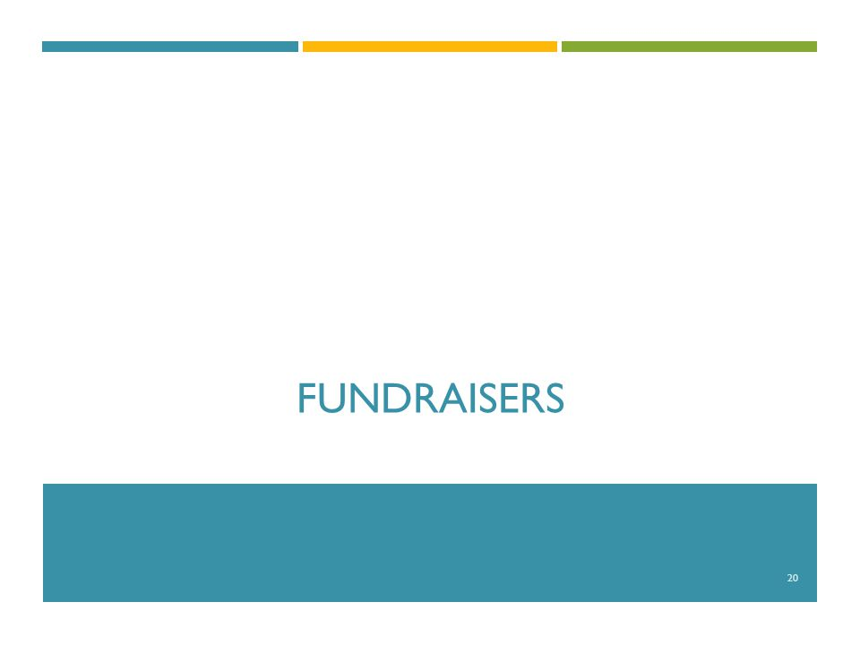 FUNDRAISERS 20