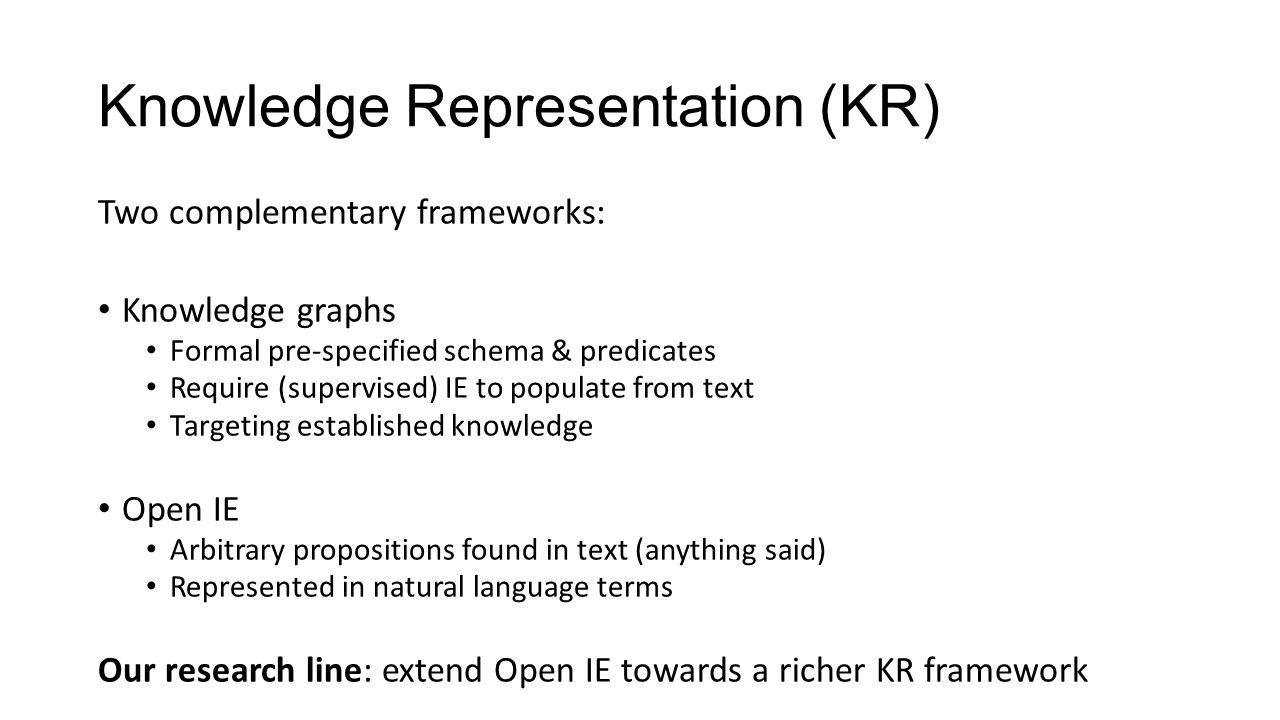 From Berant et al., 2014 Appeal: complex aggregation queries, via semantic parsing (beyond text-QA scope) E.g.