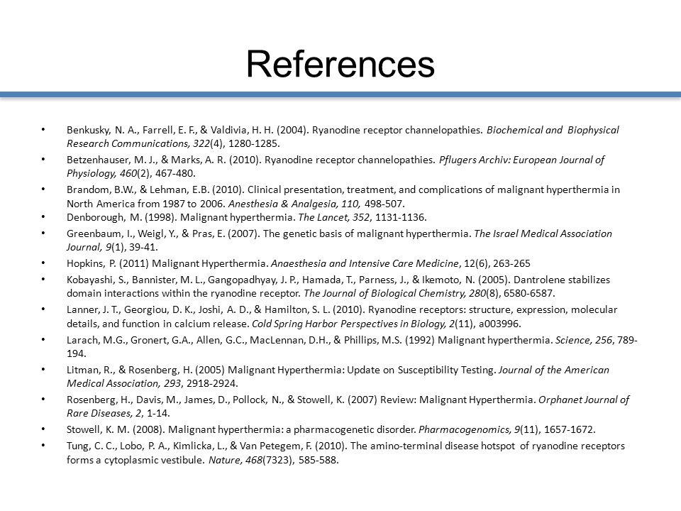 References Benkusky, N. A., Farrell, E. F., & Valdivia, H.
