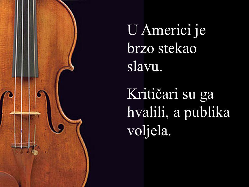 Na početku jednoga koncerta, već nakon prvih nekoliko taktova, pukla mu je žica na violini.
