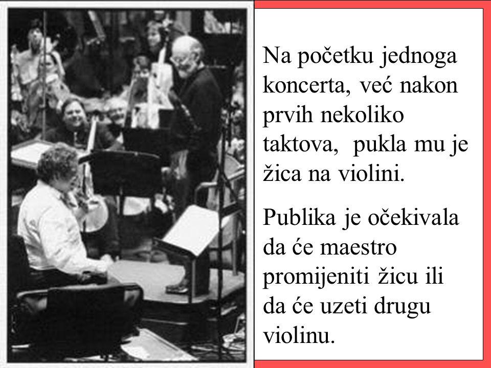 Ali Itzhak je samo dao znak dirigentu da krene ponovno i nastavio je svirati na preostale tri žice.