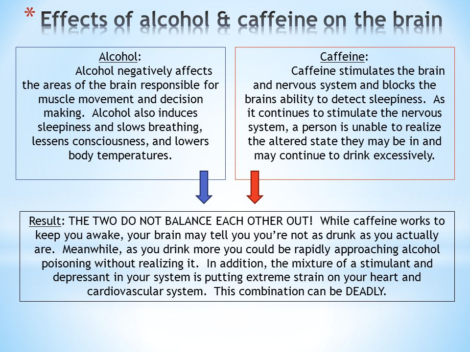 Alcohol: Alcohol negatively affects the areas of the brain responsible for muscle movement and decision making.
