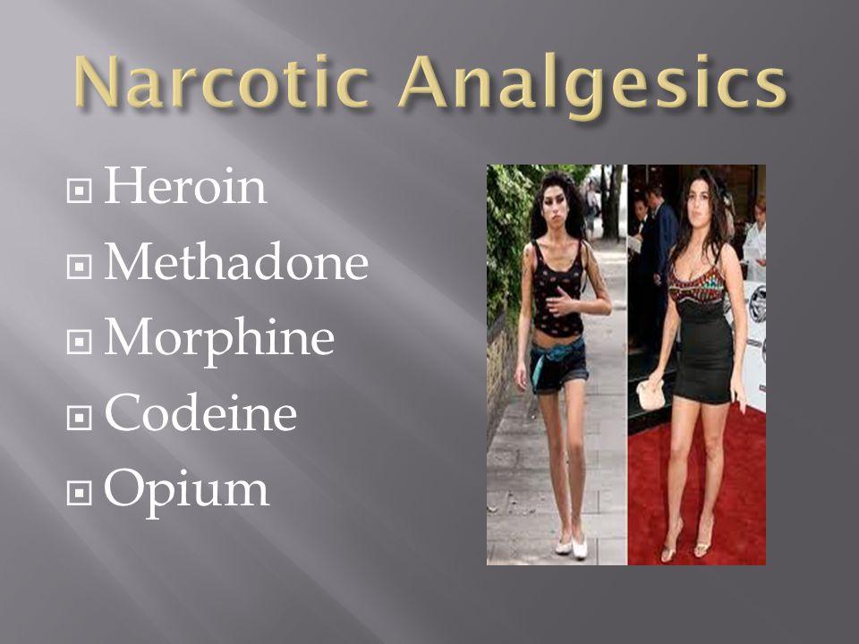 Heroin  Methadone  Morphine  Codeine  Opium