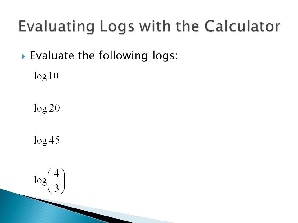  Evaluate the following logs: