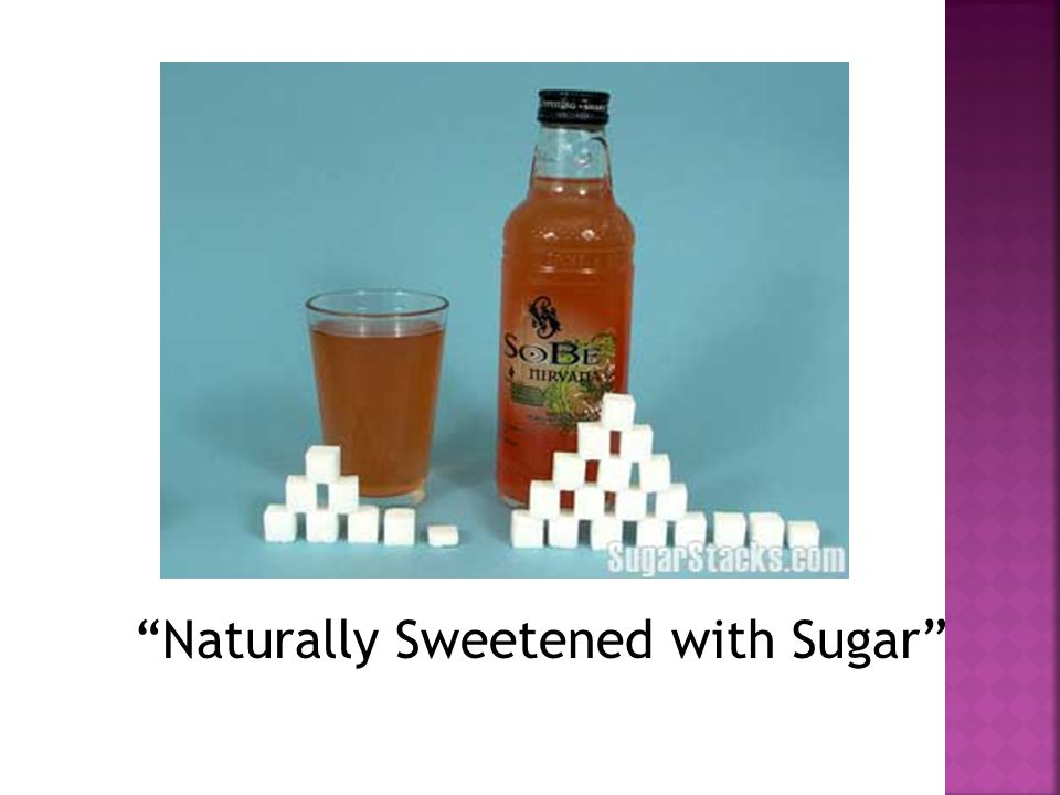 Naturally Sweetened with Sugar