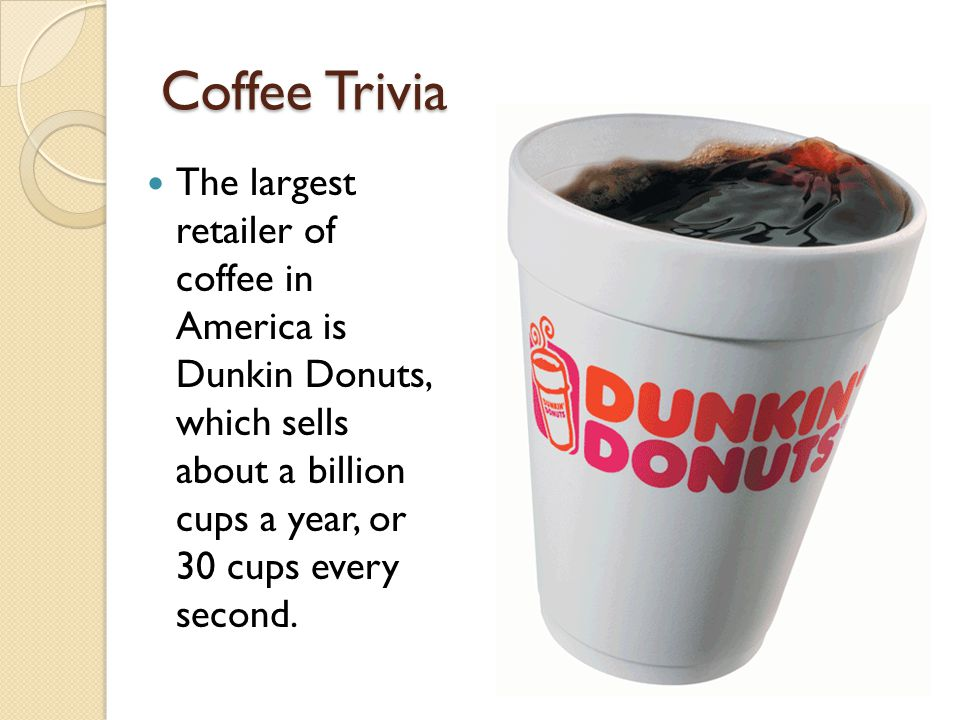 Coffee Trivia The only American state to grow coffee is ?