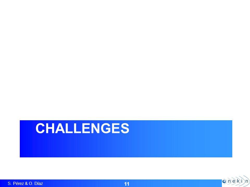 S. Pérez & O. Díaz CHALLENGES 11