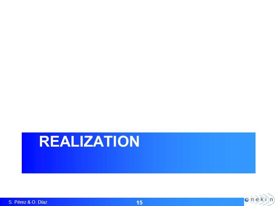 S. Pérez & O. Díaz REALIZATION 15