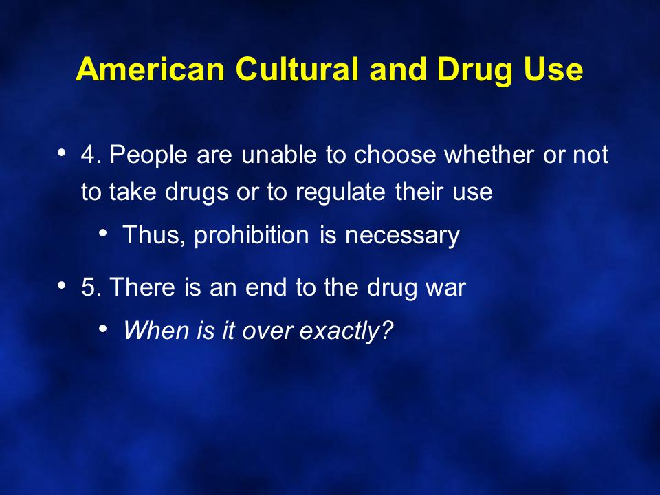 American Cultural and Drug Use 4.