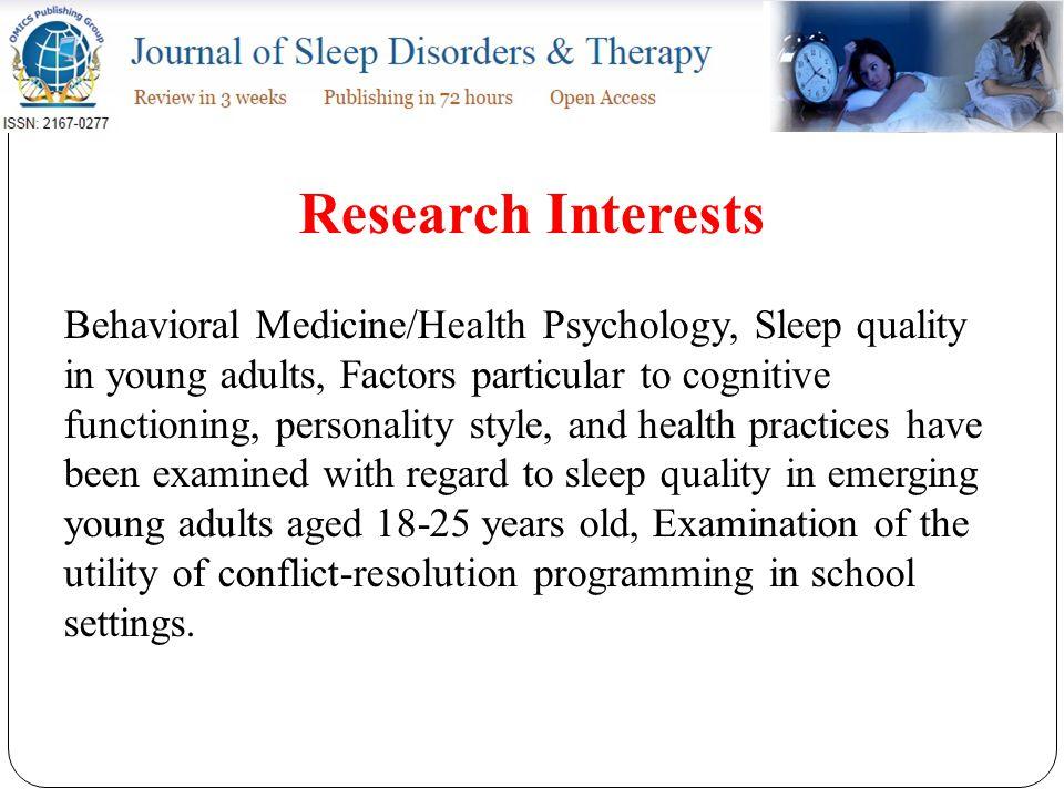 Publications Sexton-Radek K, Hartley A (2013) College residential sleep environment.