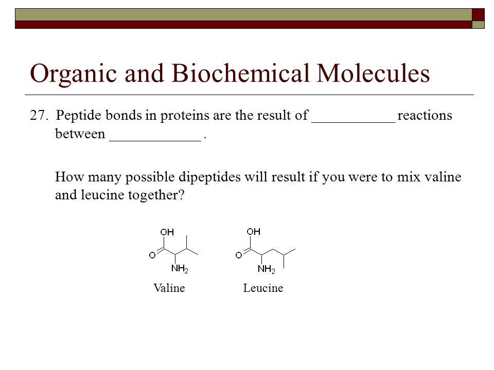 Organic and Biochemical Molecules 27.
