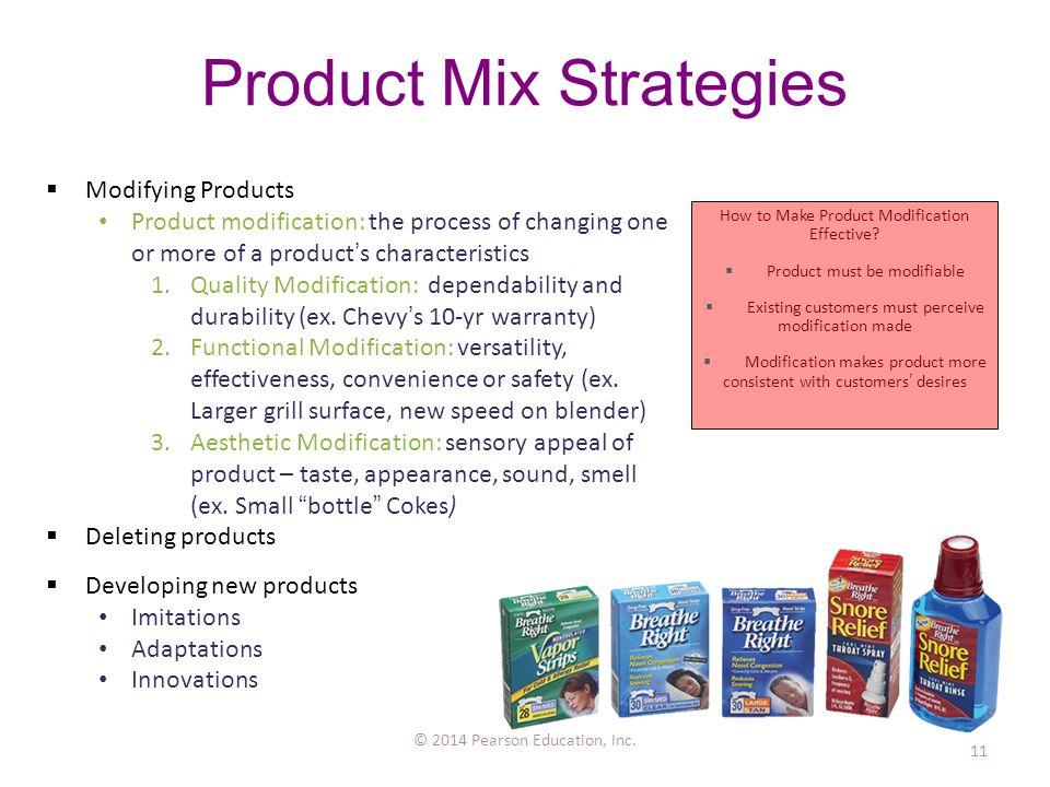 Product Mix Strategies © 2014 Pearson Education, Inc.