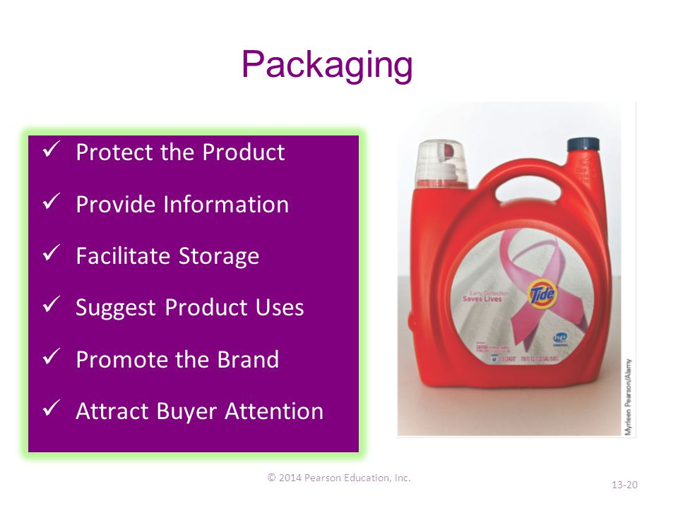 Packaging © 2014 Pearson Education, Inc.