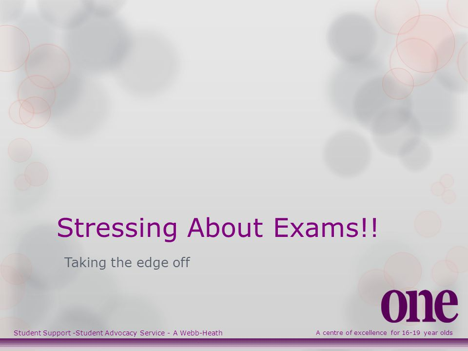 Stressing About Exams!.