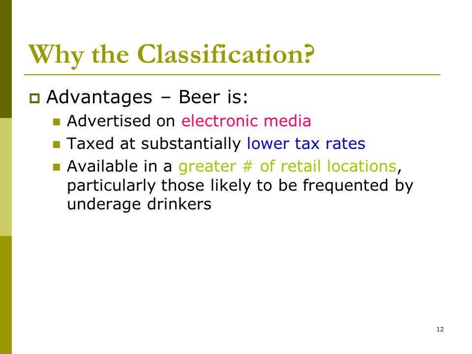 12 Why the Classification.