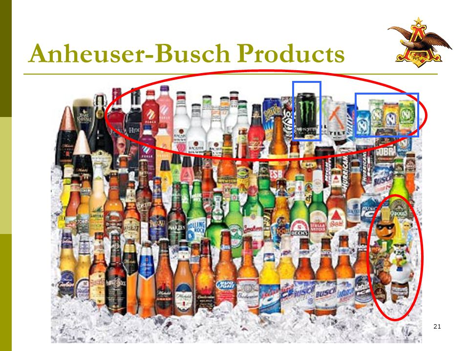 21 Anheuser-Busch Products