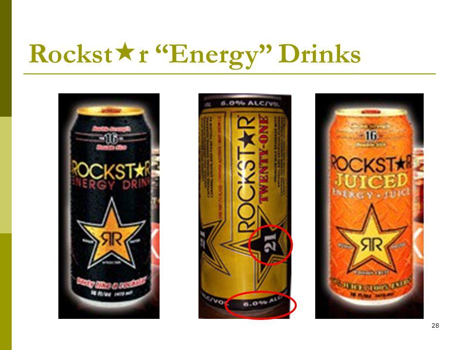 28 Rockst  r Energy Drinks