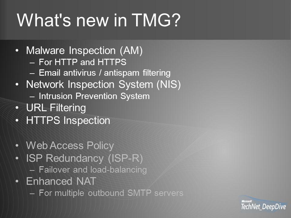 TMG Network Rules New Feature: Enhanced NAT –Eg. SMTP Sender Policy Framework
