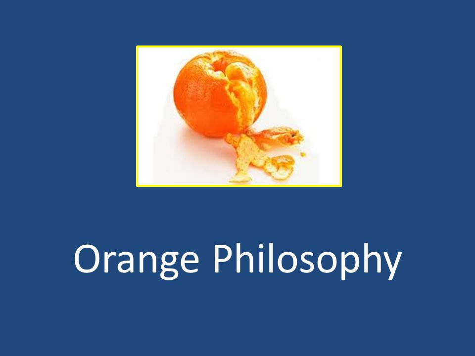 Orange Philosophy