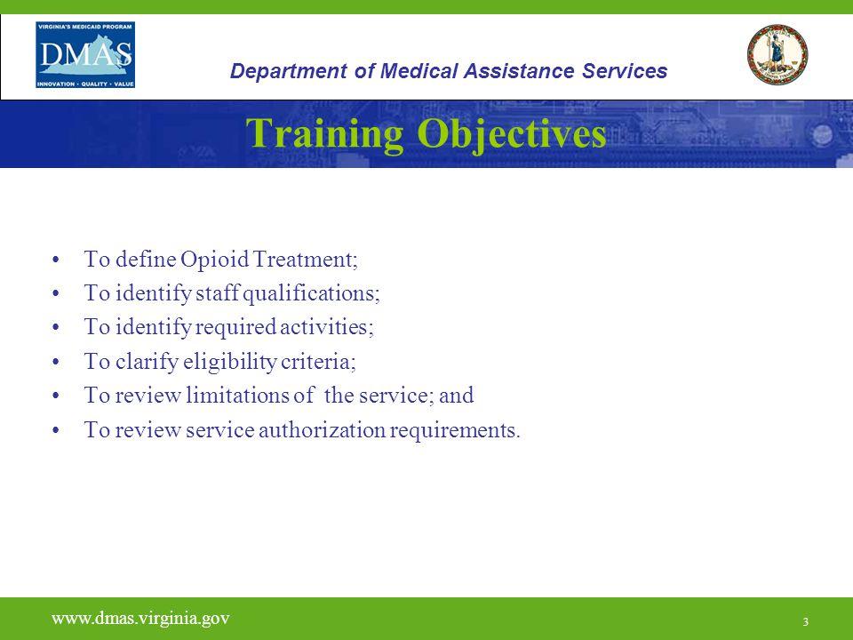 14 H0020 www.dmas.virginia.gov 14 Department of Medical Assistance Services Limitations