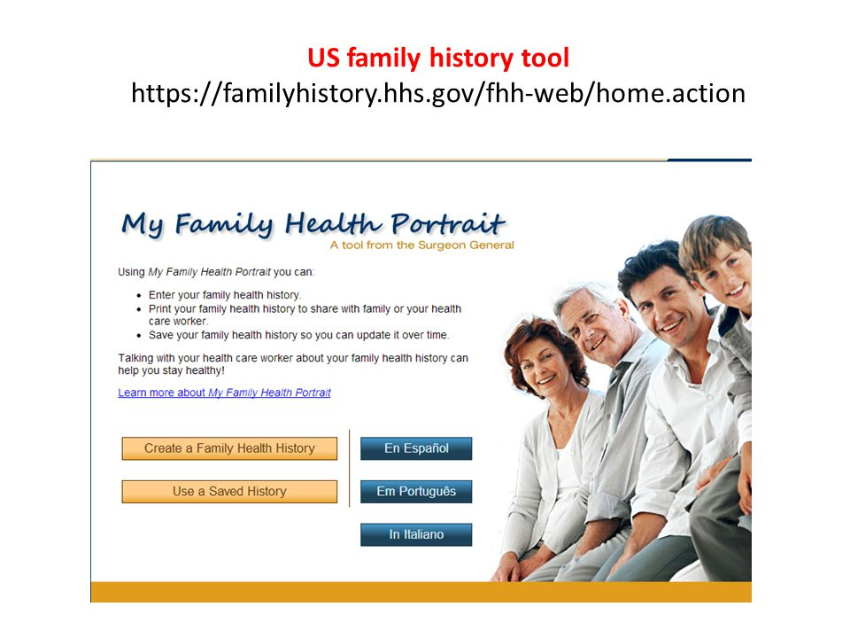 US family history tool https://familyhistory.hhs.gov/fhh-web/home.action