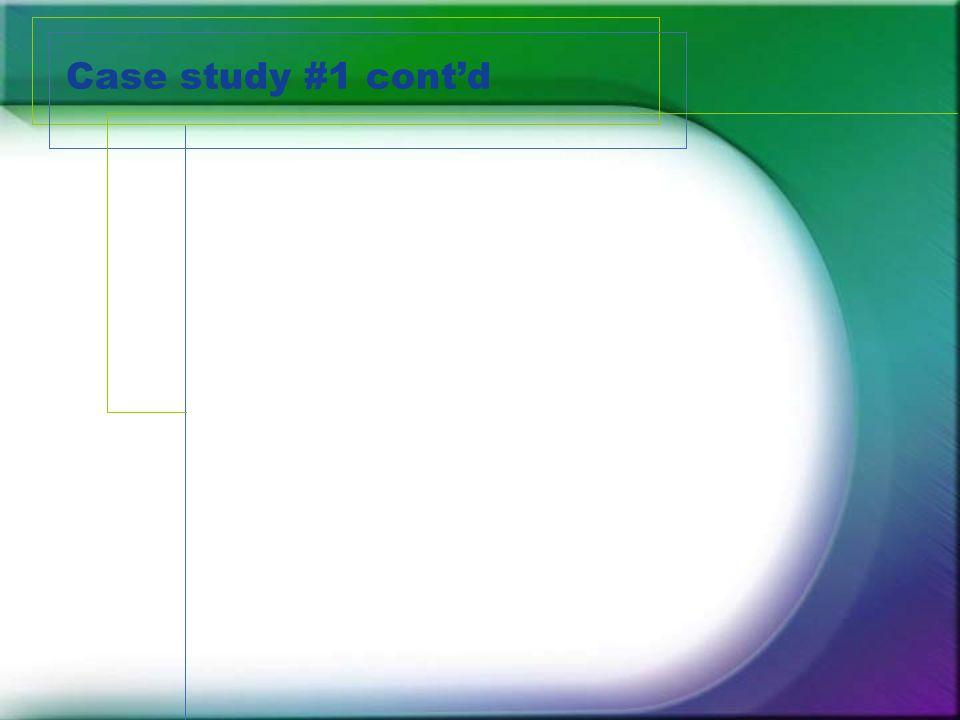 Case study #1 cont'd