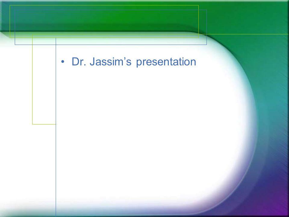 Dr. Jassim's presentation