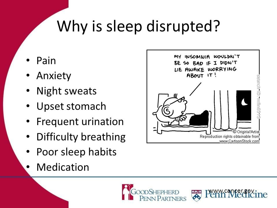 Why is sleep disrupted.