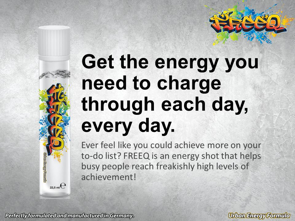 Get the energy you need to charge through each day, every day.