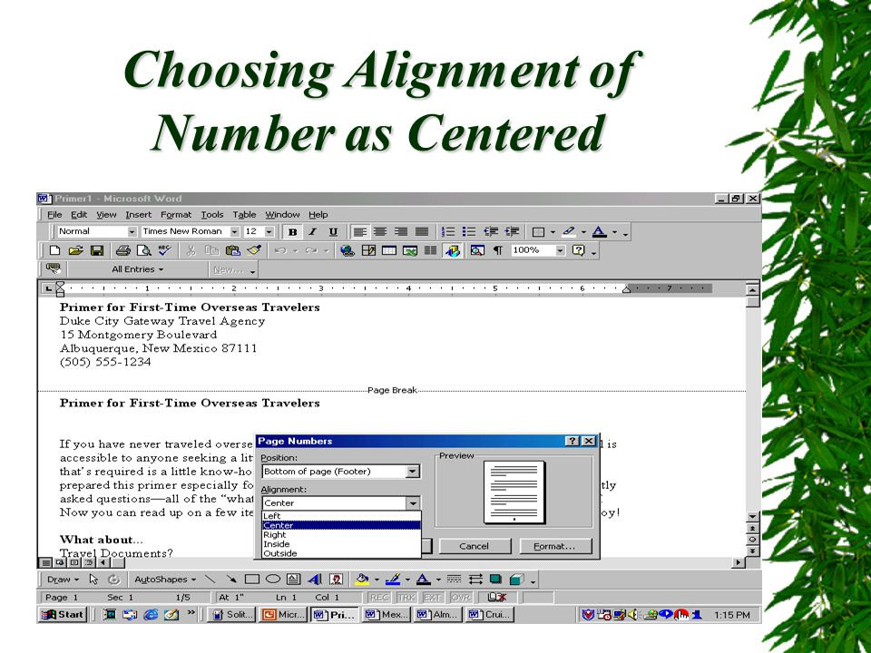 Page Numbers, Headers and Footers20 Adding Headers and Footers  Headers and footers are typically used in multiple-page documents to display descriptive information.