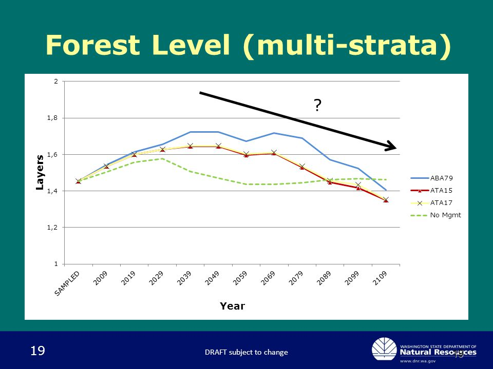 19 19 Forest Level (multi-strata) DRAFT subject to change ?