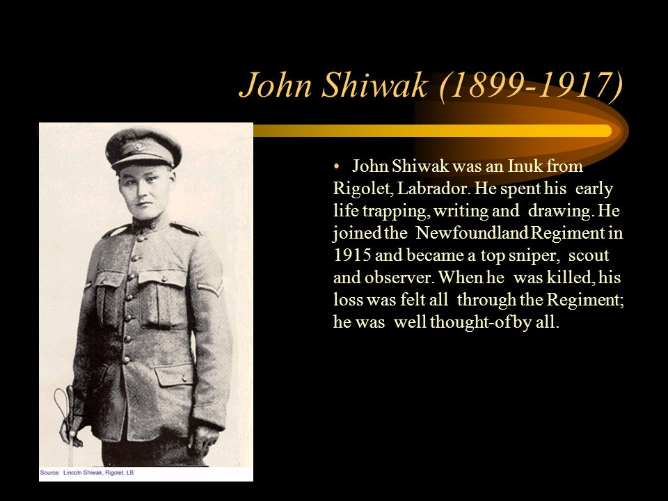 Footer Area John Shiwak (1899-1917) John Shiwak was an Inuk from Rigolet, Labrador.