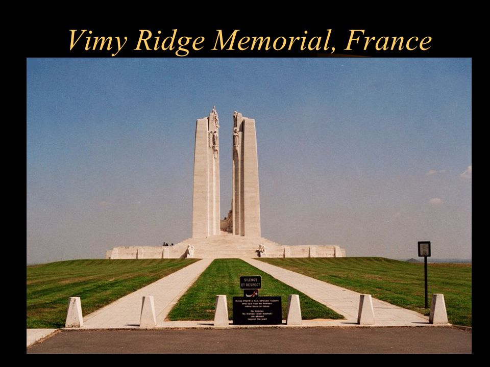 Footer Area Vimy Ridge Memorial, France