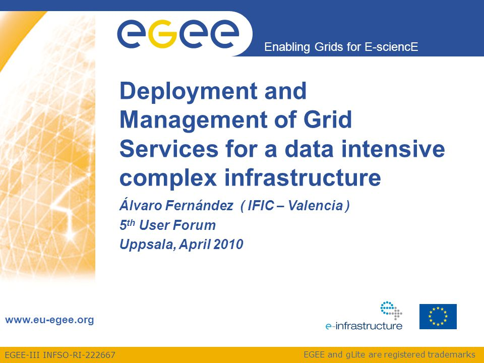 Enabling Grids for E-sciencE EGEE-III INFSO-RI-222667 StoRM as an SRM server Interface of the storage network with the GRID.