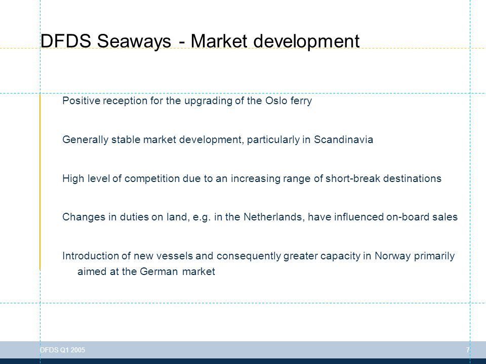 To change the header information go to: View > Header & Footer DFDS Q1 200518 DFDS Tor Line - Financial performance