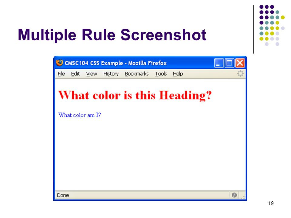 19 Multiple Rule Screenshot