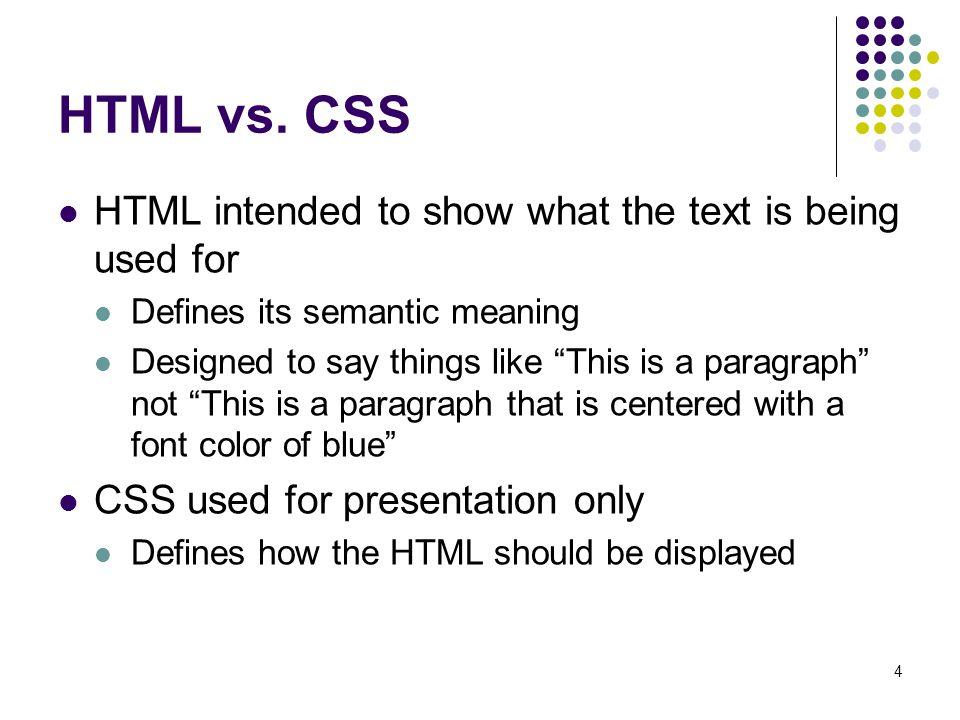 4 HTML vs.