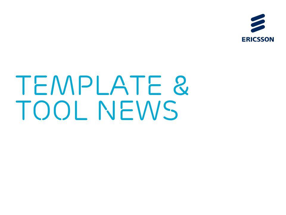 TEMPLATE & TOOL NEWS