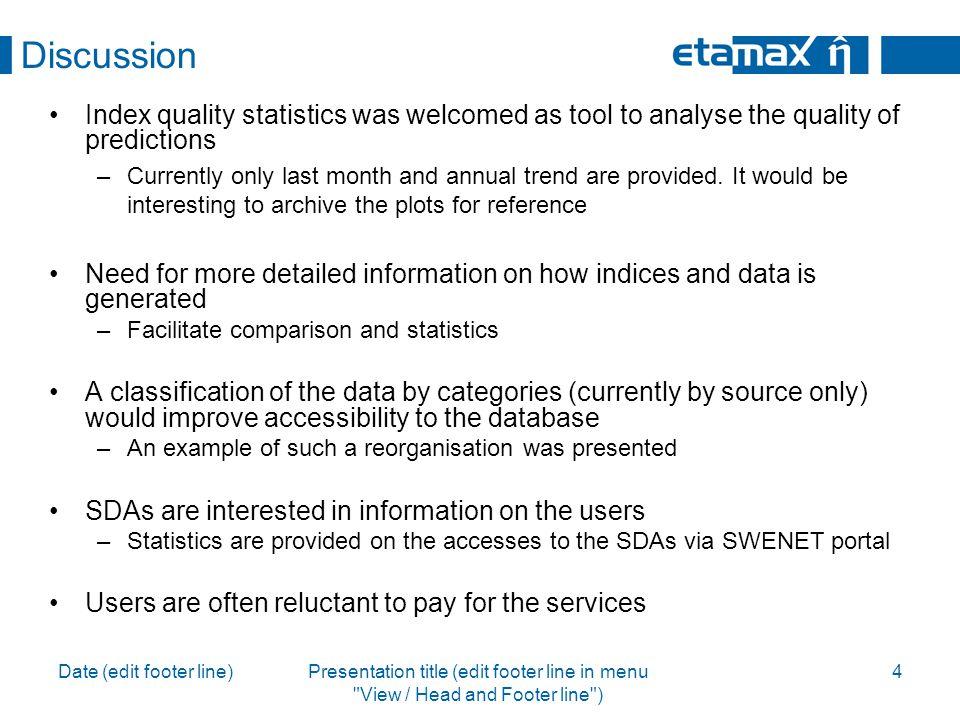 Date (edit footer line)Presentation title (edit footer line in menu View / Head and Footer line ) 5 etamax space GmbH Richard-Wagner-Str.