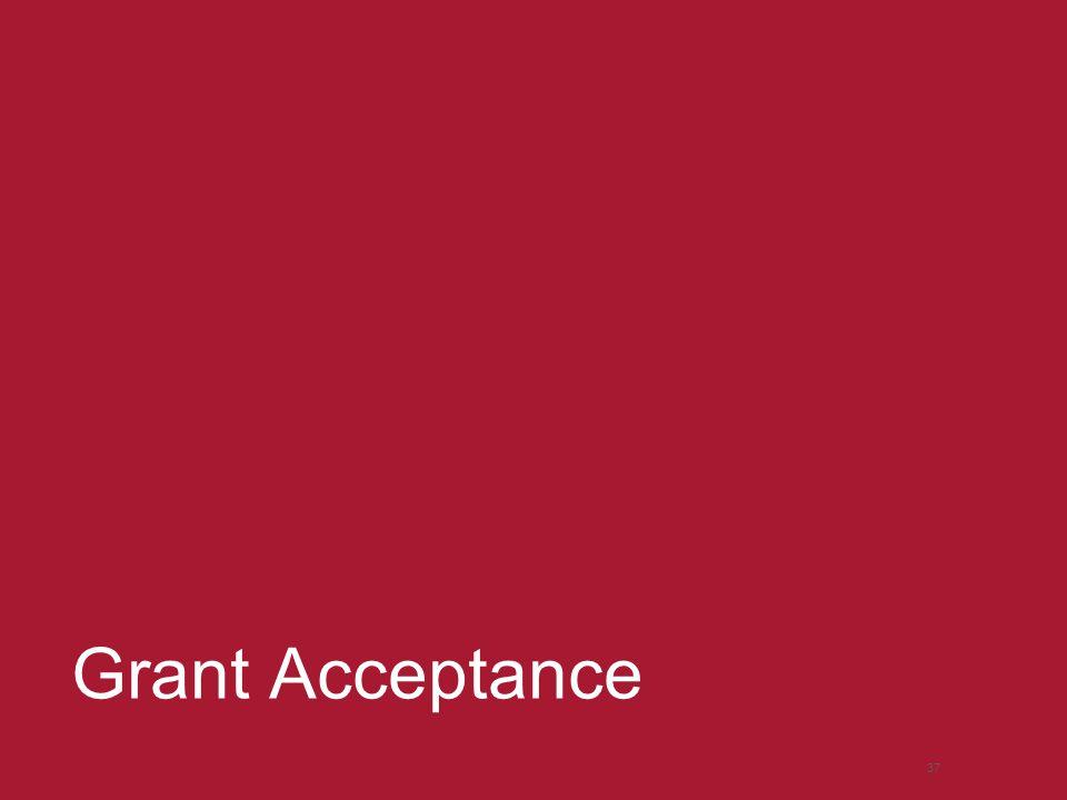 Grant Acceptance 37