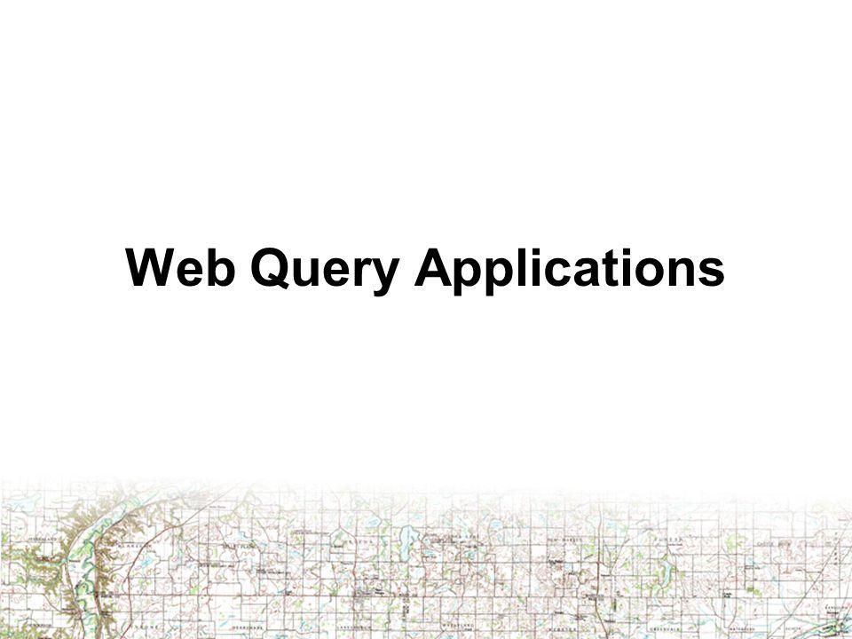 Web Query Applications