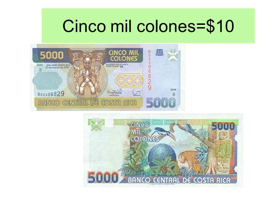 Dos mil colones=$4