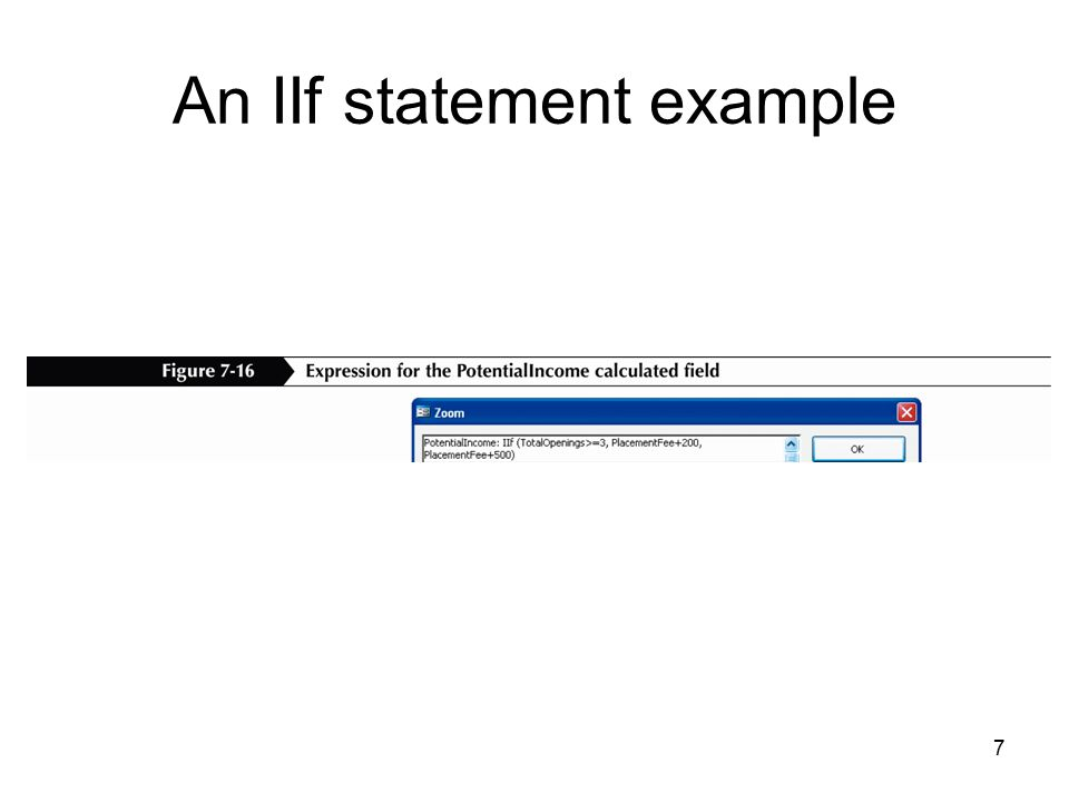 7 An IIf statement example