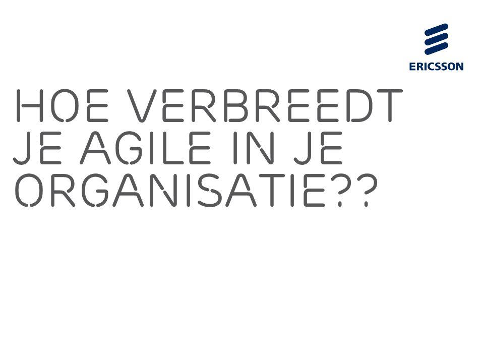 Slide title 70 pt CAPITALS Slide subtitle minimum 30 pt Hoe Verbreedt je agile in je organisatie