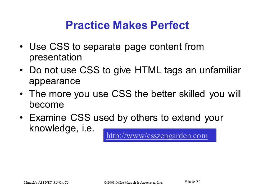 Murach's ASP.NET 3.5/C#, C5© 2008, Mike Murach & Associates, Inc.