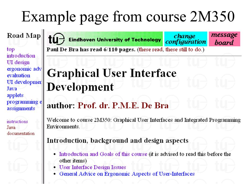 Example page from course 2M350