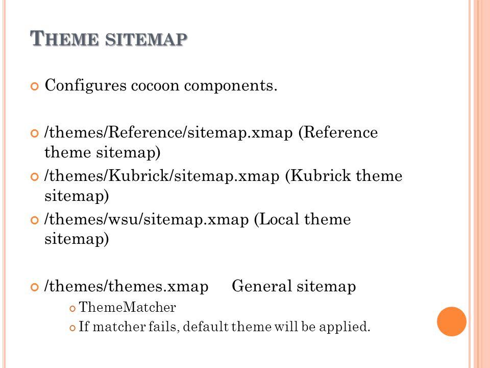 T HEME SITEMAP Configures cocoon components.