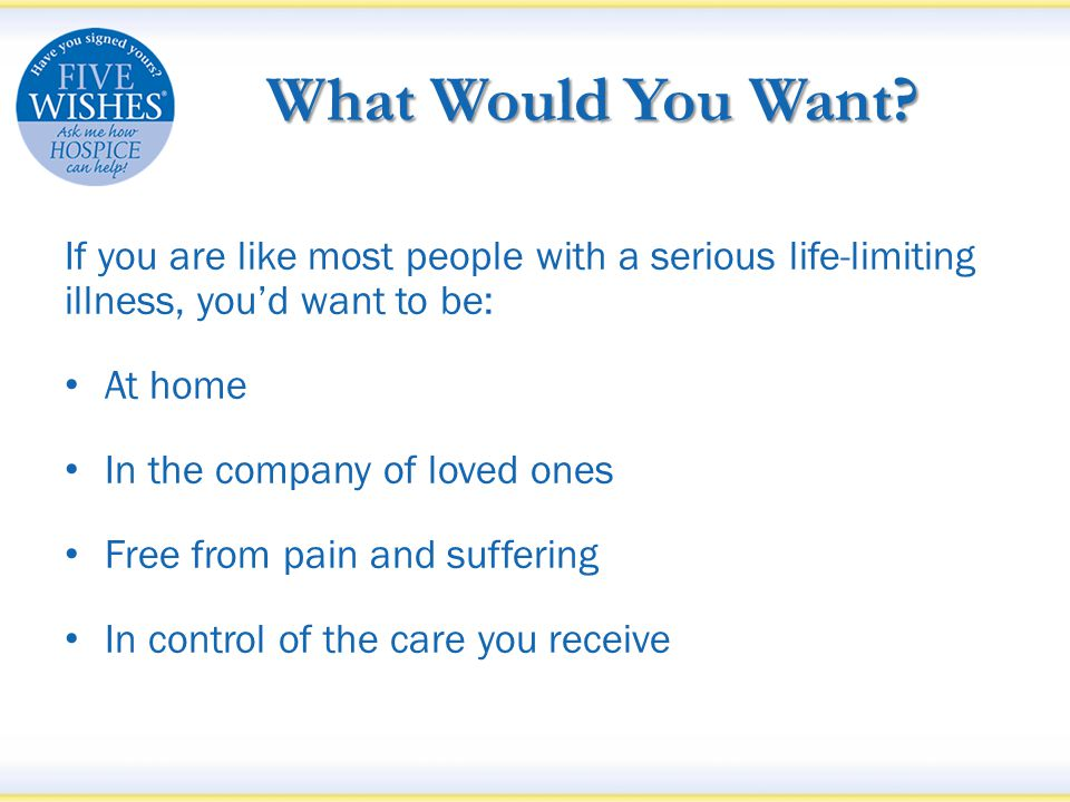 What Would You Want.