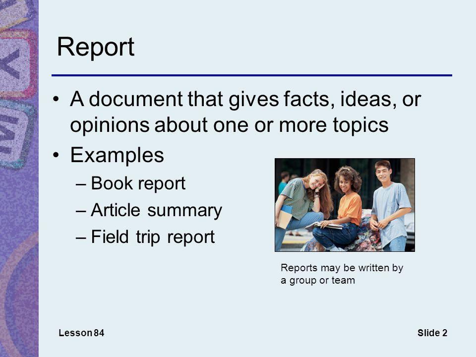Slide 13 Outline for MLA Report Lesson 86 1 side margins Center title Indent outline levels 1 1 Line Spacing 2